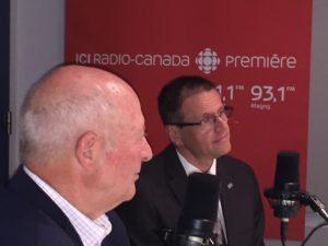 Yves Jodoin et Eric Ashby à Radio-Canada Estrie