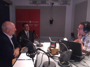 A l'émission Écoutez l'Estrie, avec Réjean Blais