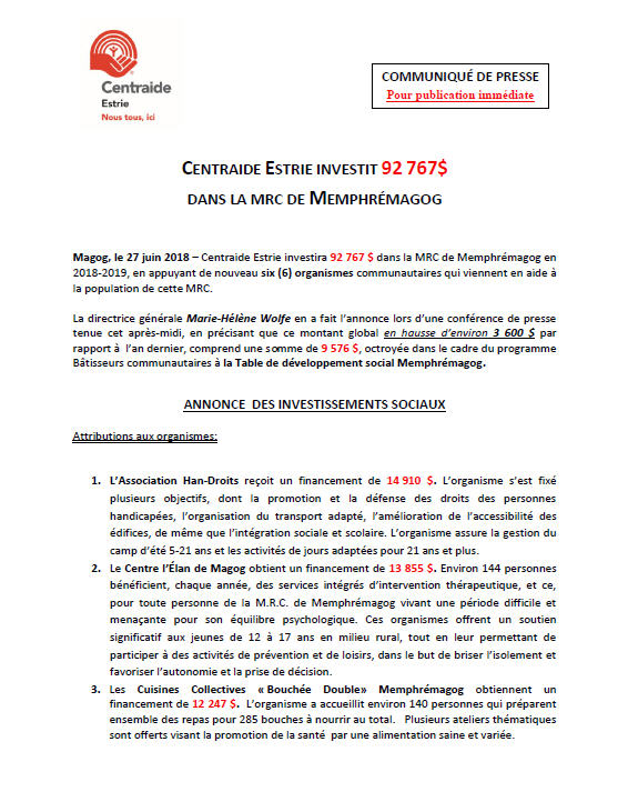 MAGOG, MRC DE MEMPHRÉMAGOG