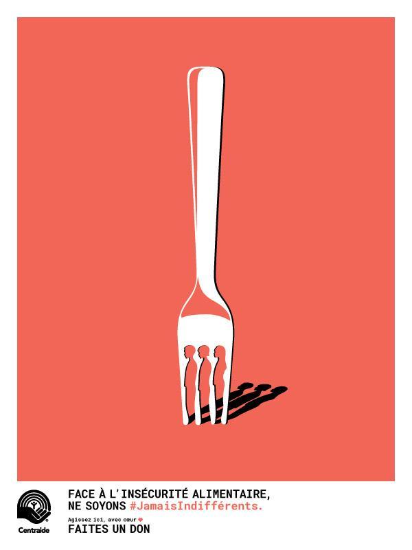 Affiche #JamaisIndifférents insécurité alimentaire