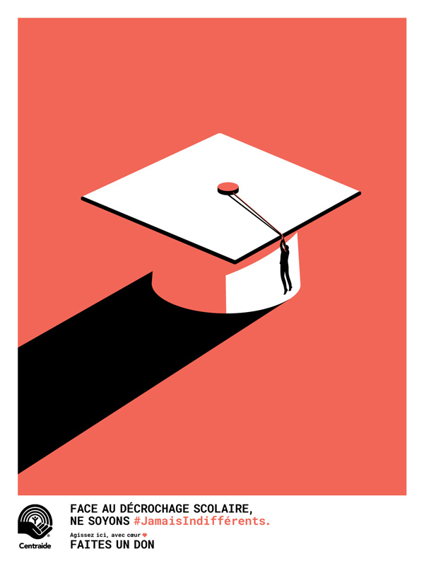 Affiche #JamaisIndifférents réussite des jeunes