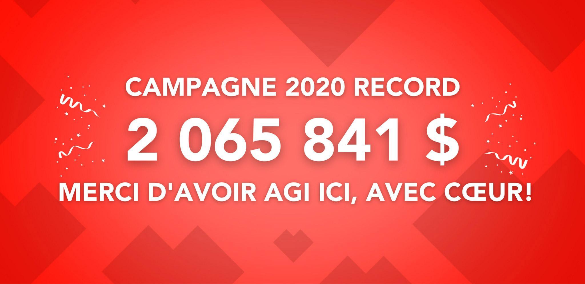 Campagne 2020 record